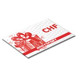 Carte cadeau 100 Chf