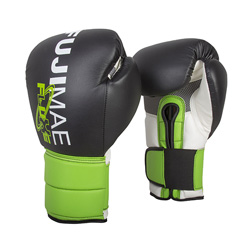 FluXe Boxing Gloves Black Lime