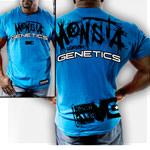 Genetics-139 Blue : Bodybuilding T-Shirt