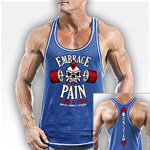 Embrace Pain Blue : V-Tank musculation