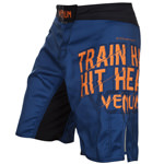 Train Hard Hit Heavy Blue : Venum Shorts