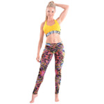 Mini Top Supplex Yellow : Mini top Fitness Femme