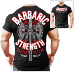 Barbaric Strength BL : T-shirt musculation