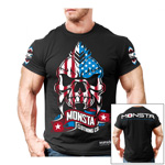 Monsta USA Skull : Bodybuilding T-Shirt