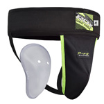 Groin Guard Supporter Black : Coquille et porte coquille