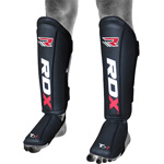 Leather MMA Shin Guards Protector : Protèges-tibias
