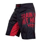 Train Hard Hit Heavy Black Red