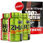 Fast Gains Stack +  Whey Chocolat 500gr : Pack pour le soutient de la croissance musculaire