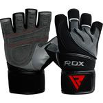 Gym Glove Leather Gray Black