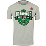 Reebok Conor McGregor The Notorious T-Shirt Gris : T-Shirt UFC McGregor