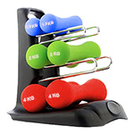 Fitness Dumbbell Set With Holder : Set d'haltères avec support