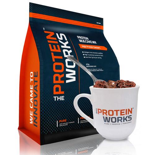 Protein mug cake fondant au chocolat prot in de the protein works - Produit riche en proteine ...