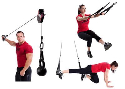 Systeme de suspension a poulie rotative