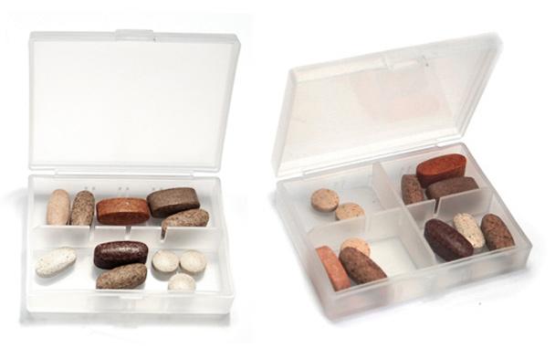Tablettendose mit 6 Fächern